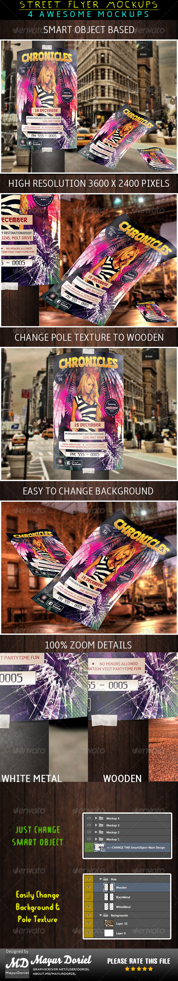 GraphicRiver Street Flyer Mockup 4340066