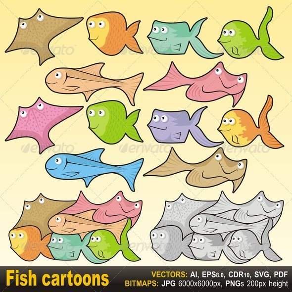 GraphicRiver Fish Cartoons 4340077