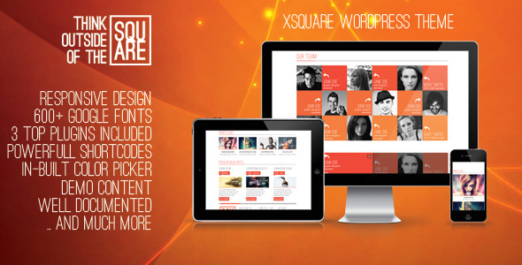 xSquare - Responsive & Clean Wordpress Template
