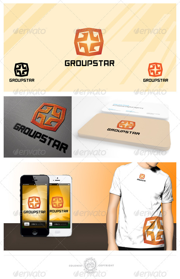 GraphicRiver Group Star logo 4340525