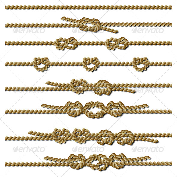 GraphicRiver Set of Rope Knots 4340700
