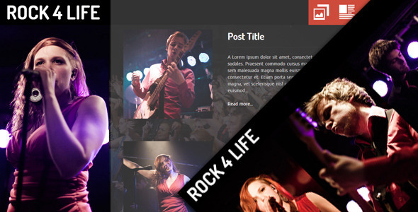 ThemeForest Rock4Life- Responsive Template for Bands Musicians 4340903