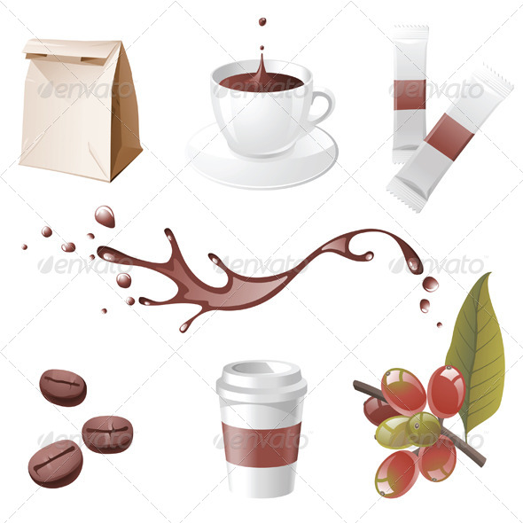 GraphicRiver Coffee Icons 4340917
