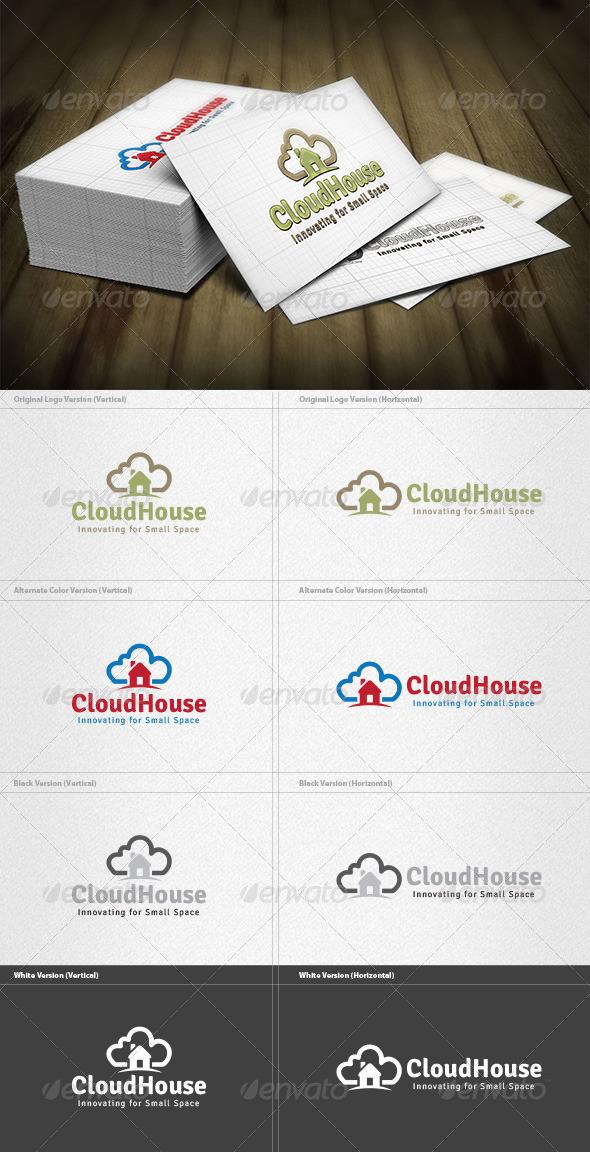 GraphicRiver Cloud House Logo 4340918