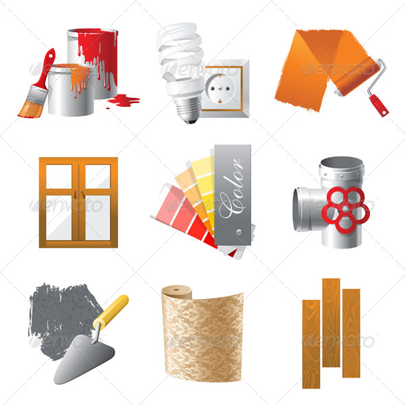 GraphicRiver Repair Icons 4340982