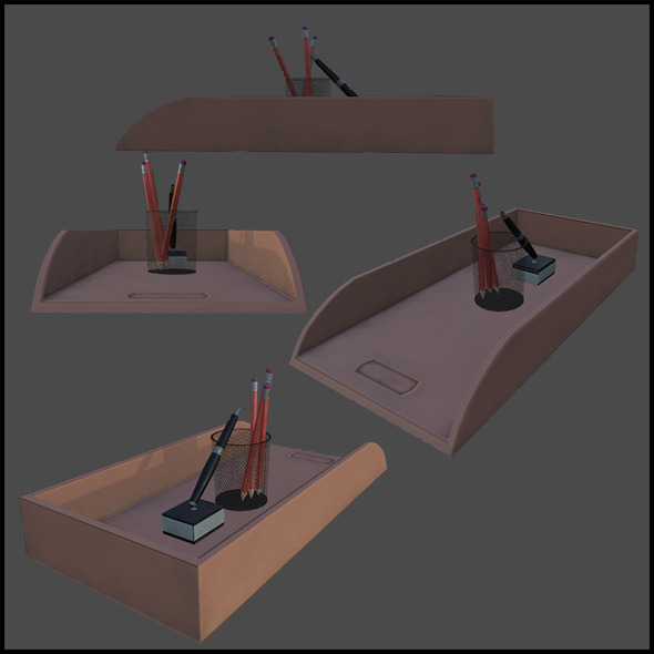 3DOcean Office Desk Objects 4341607