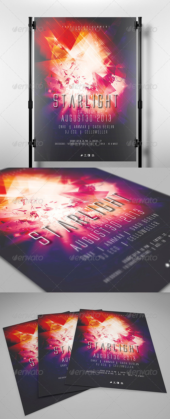GraphicRiver Starlight Flyer Template 4341687
