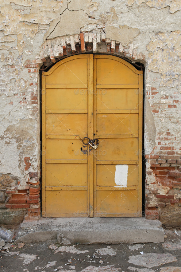 Yellow door - Stock Photo - Images