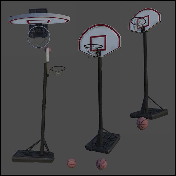 3DOcean Basketball Hoop with Basketball Ball 4341847