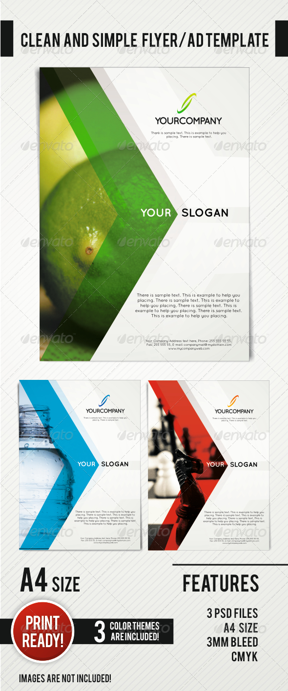 GraphicRiver Clean and Simple Flyer AD Template 4341852
