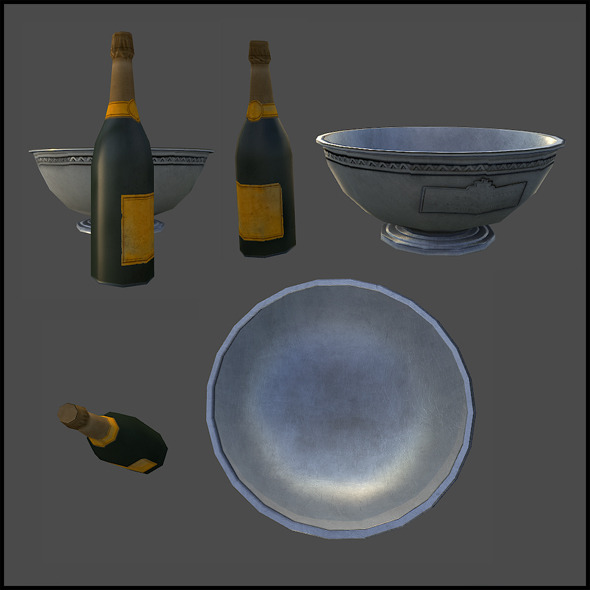 3DOcean Champange Bottle and a Cooler 4342088
