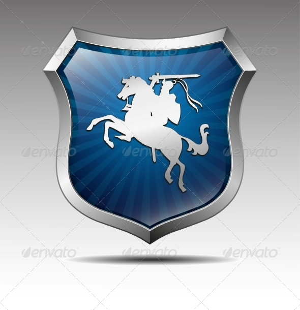 GraphicRiver Arms with the Knight on Horse Vector 4342144