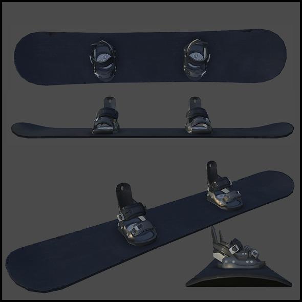 3DOcean Snowboard 4343328