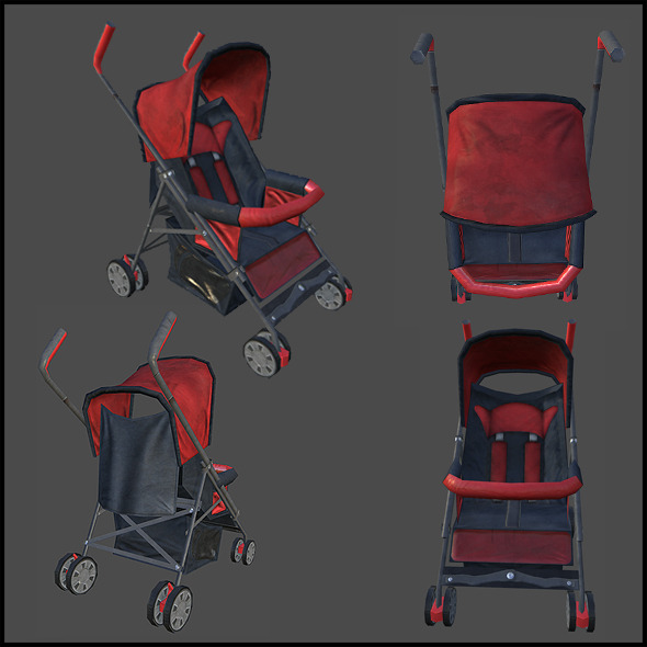 3DOcean Baby Stroller 4343337