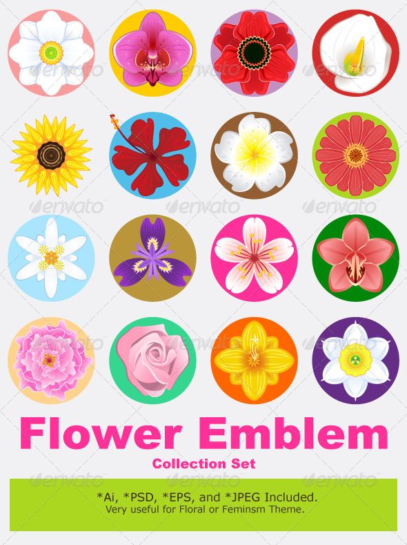 GraphicRiver Flower Collection Set 4343345