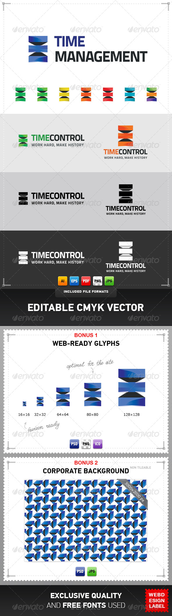 GraphicRiver Time Management Logo 4258119
