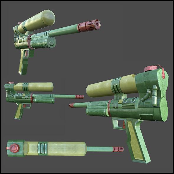 3DOcean Water Pistol Toy 4343359