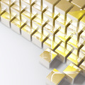Abstract golden cubes on white background - PhotoDune Item for Sale