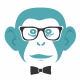 Hipster Chimp Logo - GraphicRiver Item for Sale