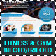 Fitness &amp;amp; Gym - Sports Bifold + Trifold - GraphicRiver Item for Sale