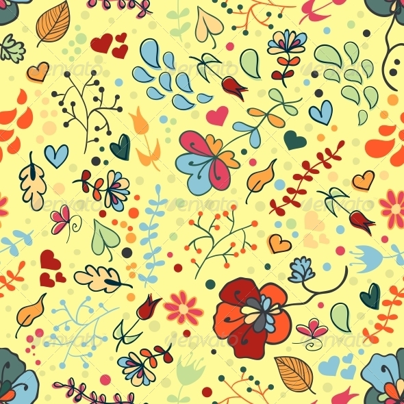 GraphicRiver Seamless Floral Pattern 4344352