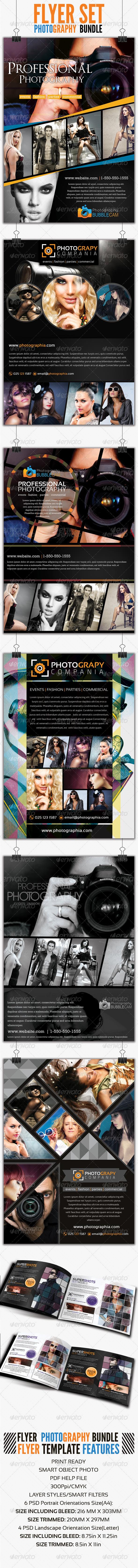GraphicRiver Photography Flyer Bundle Set 1 4344366