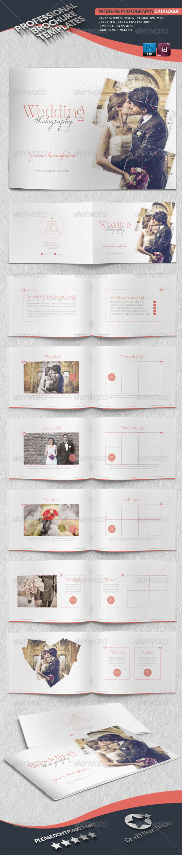 GraphicRiver Wedding Photography Catalogue Template 4344678