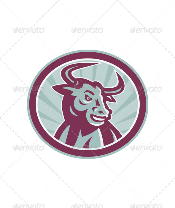 GraphicRiver Texas Longhorn Bull Retro 4344882