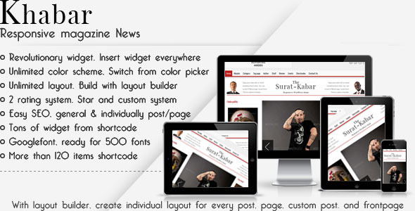 Khabar - Magazine News WordPress Theme
