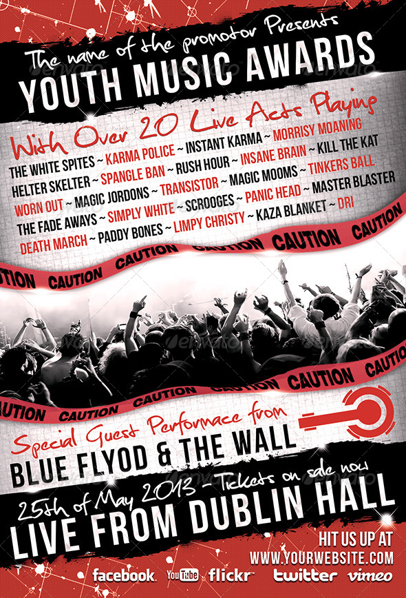 Youth Music Awards Flyer - Concerts Events