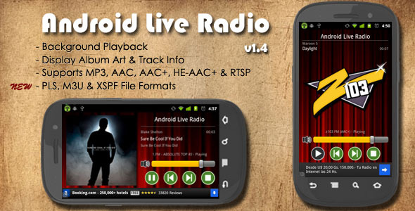 Android Radio Live - WorldWideScripts.net articolo in vendita