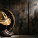 American West Rodeo Cowboy Hat on Boots and Lariat - PhotoDune Item for Sale