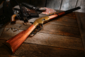 American West Legend Vintage Action Rifle and Guns - PhotoDune Item for Sale
