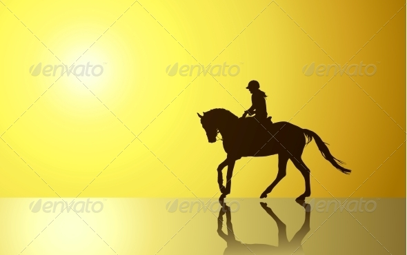 GraphicRiver Background with Horse 4347291