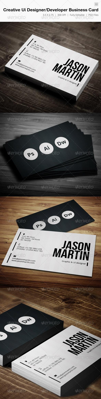 GraphicRiver Creative Designer-Developer Business Card 02 4225247