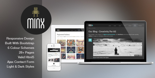 minx responsive html5 template by josweb themeforest. Black Bedroom Furniture Sets. Home Design Ideas
