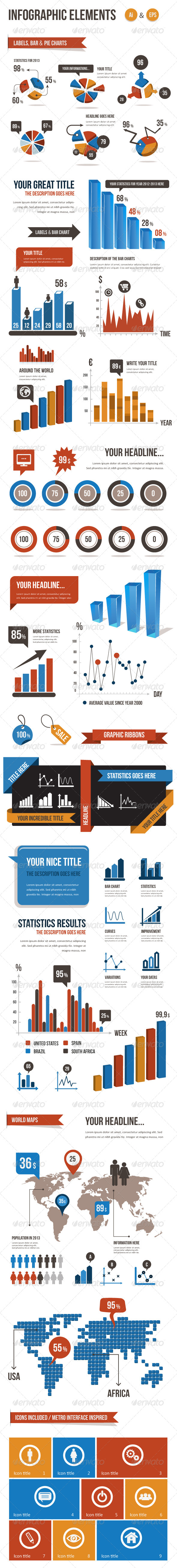 GraphicRiver Infographic Elements Vector Pack 4265940