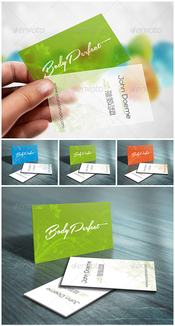 GraphicRiver Wild Flower Business Card Restaurant & Beauty SPA 4234999