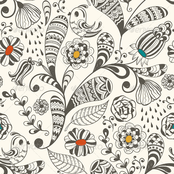 GraphicRiver Seamless Spring Wallpaper Pattern 4350026