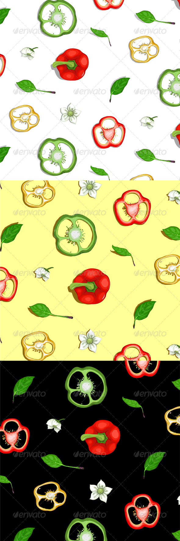 GraphicRiver Paprika Sweet Pepper Seamless Background 4350186