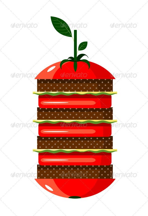 GraphicRiver Graphic Tomato Hamburger 4350243