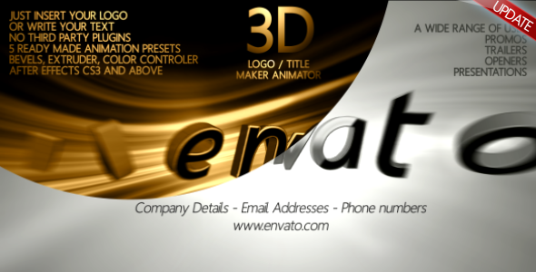 3D Title Maker Animator by Mikka | VideoHive