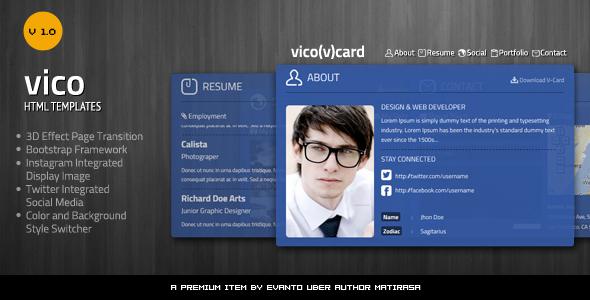 ThemeForest Vico V Card 4351585