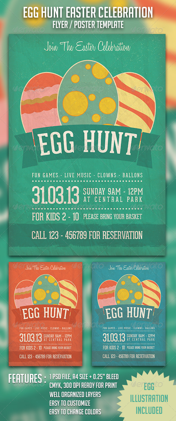 GraphicRiver Egg Hunt Easter Celebration 4230671