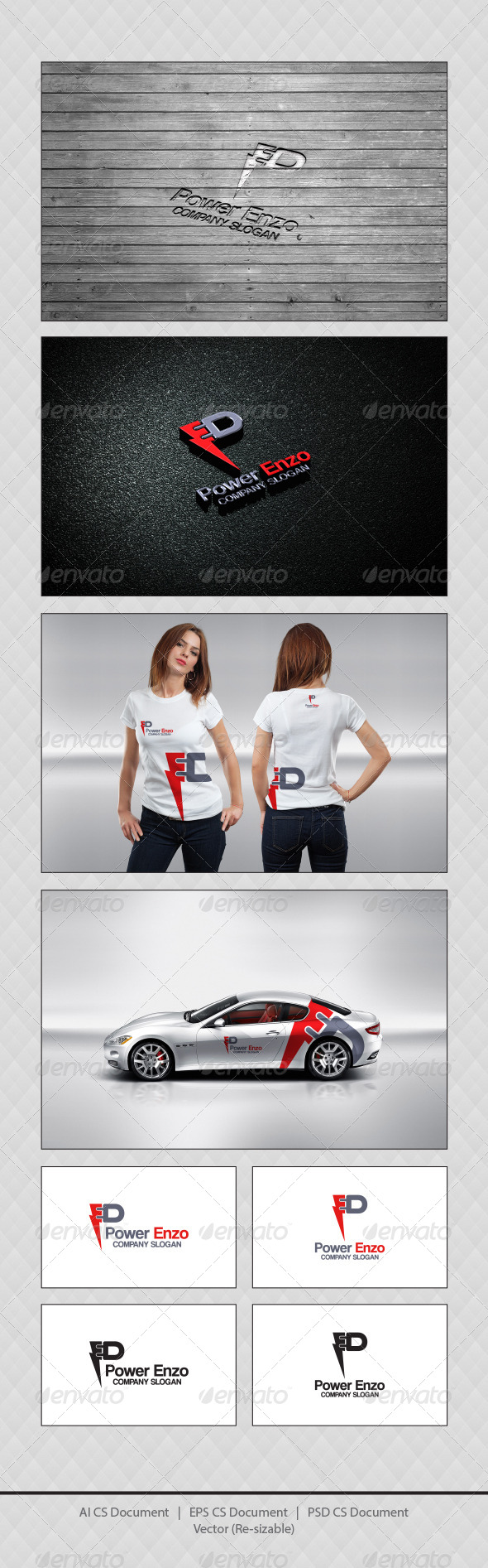 GraphicRiver Power Enzo Logo Templates 4352541