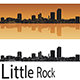 Little Rock Skyline in Orange Background - GraphicRiver Item for Sale