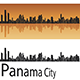 Panama City Skyline in Orange Background - GraphicRiver Item for Sale