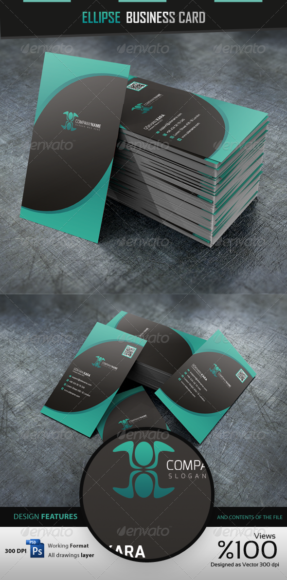 GraphicRiver Ellipse Business Cardvisid 4353860
