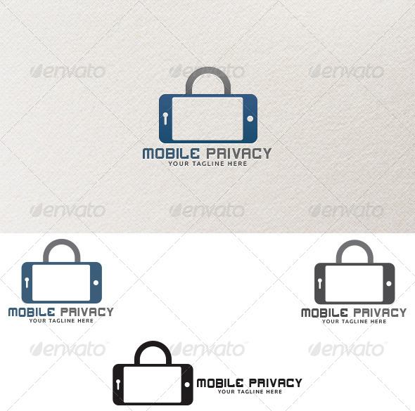 GraphicRiver Mobile Privacy Logo Templates 4267693