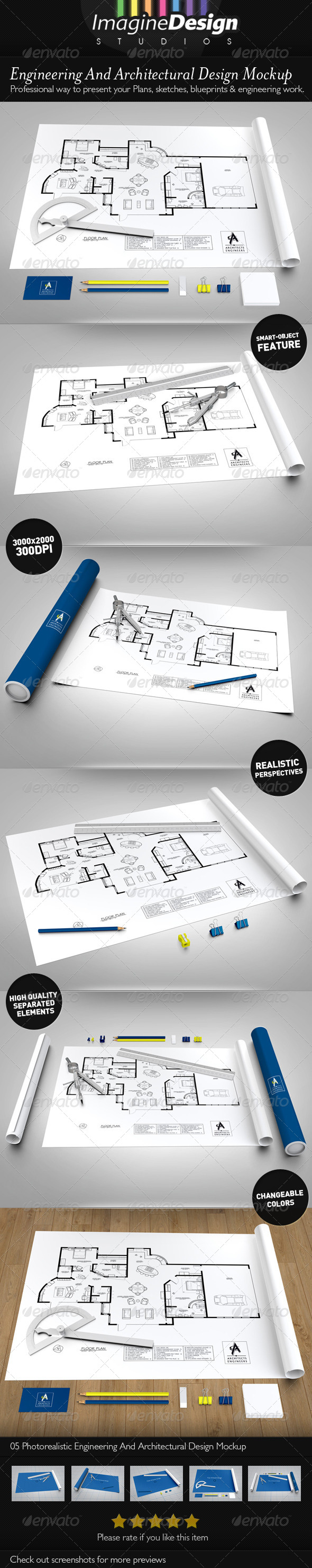 GraphicRiver Engineering Architectural Design Mock-up 4354318